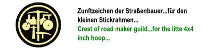 Zunftzeichen Pflasterer & Straßenbauer